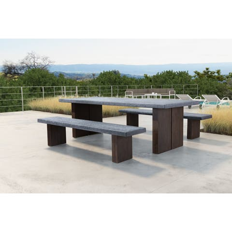 Windsor Bench Cement & Natural - 78.7WX x 15.7DX x 17.7H