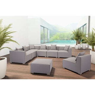 Link to Caraquet Ottoman Grey by Havenside Home Similar Items in Outdoor Sofas, Chairs & Sectionals