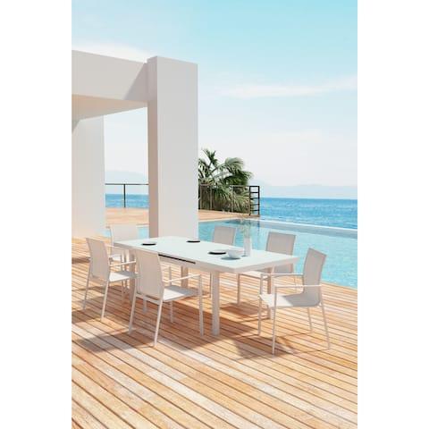 Mayakoba Dining Arm Chair White (Set of 4)