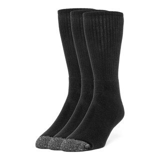 Galiva Men's Cotton Extra Soft Crew Cushion Socks - 3 Pairs