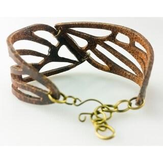 Handmade Leather Wings Bracelet