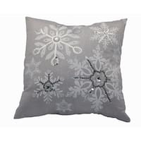 Glistening Snow Christmas Pillow, 14 by 14-Inch