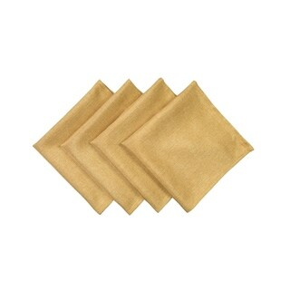 Gala Glistening Easy Care Solid Color Napkins, 20 by 20-Inch, Set of 4, Gold