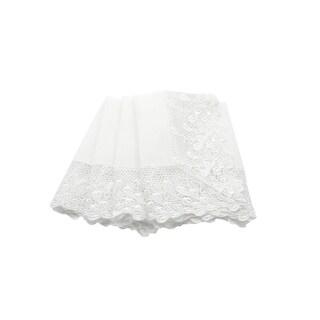 Garden Trellece Lace Trim Napkins, 20 by 20-Inch, Set of 4, White