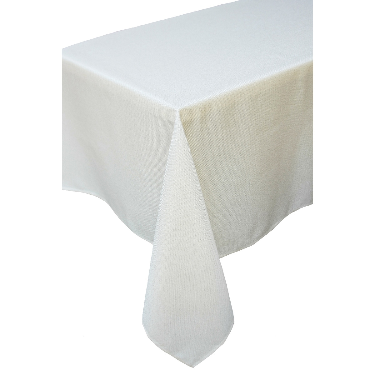 Gala Glistening Easy Care Solid Color Tablecloth, 72 by 108-Inch, Ivory, Beige Off-White