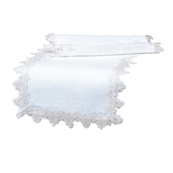 Etonnant Shop Victorian Lace Trim Table Runner, 16 By 90 Inch, White   Free Shipping  On Orders Over $45   Overstock   18535457