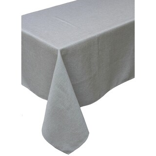 Gala Glistening Easy Care Solid Color Tablecloth, 60 by 84-Inch, Silver