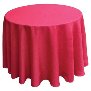 Gala Glistening Easy Care Solid Color Tablecloth, 90-Inch Round, Red
