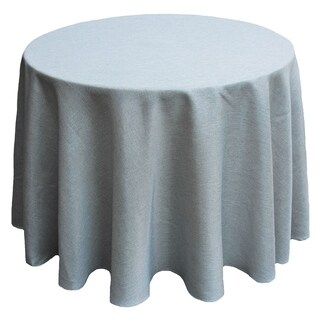 Gala Glistening Easy Care Solid Color Tablecloth, 90 Inch Round, Silver