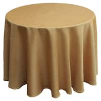 Gala Glistening Easy Care Solid Color Tablecloth, 70-Inch Round, Gold