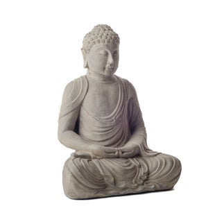 Handmade Cast Meditating Buddha