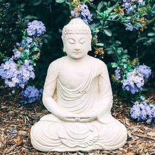 Handmade Cast Meditating Buddha (Option: Ivory)|https://ak1.ostkcdn.com/images/products/18535501/P24643080.jpg?impolicy=medium