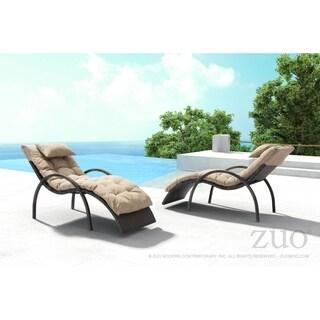 Eggertz Beach Chaise Lounge Brn & Beige
