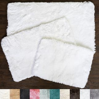 Sweet Home Collection Faux Fur Bath Rug 3 Piece Set (Available in 10 Colors)|https://ak1.ostkcdn.com/images/products/18535540/P24643112.jpg?impolicy=medium
