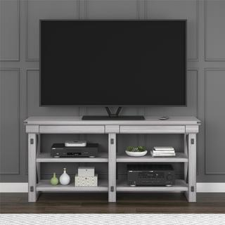 Avenue Greene Woodgate Rustic White TV Stand for up to 65-inch Wide TVs
