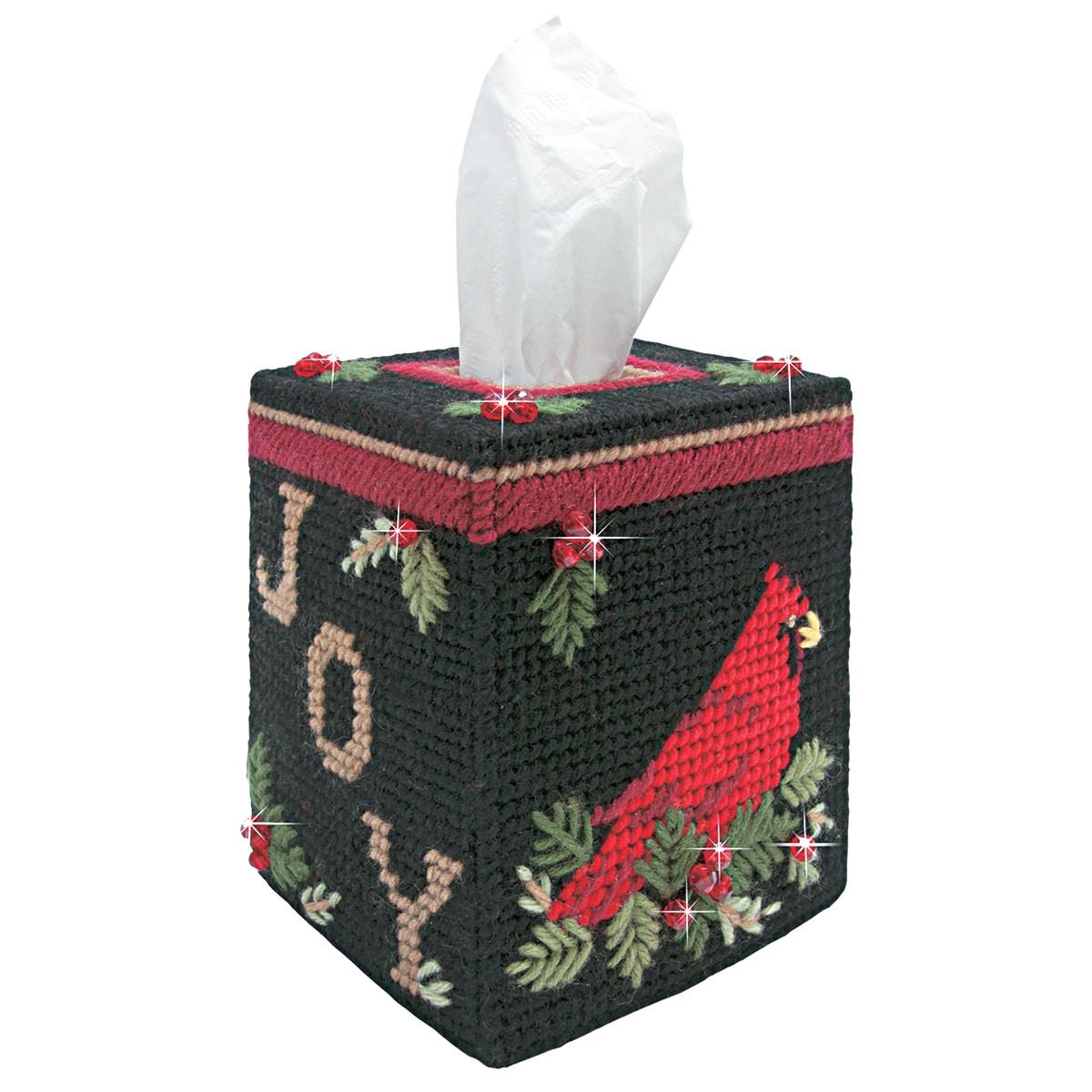 "mary maxim Plastic Canvas Tissue Box Kit 5"" (Cardinal (Re..."