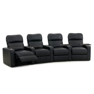 Octane Turbo XL700 Manual Leather Home Theater Seating Set (Row of 4)