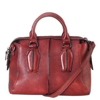 Diophy Genuine Leather Archaize Medium Top Handle Handbag