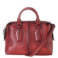 Diophy Genuine Leather Archaize Medium Top Handle Handbag