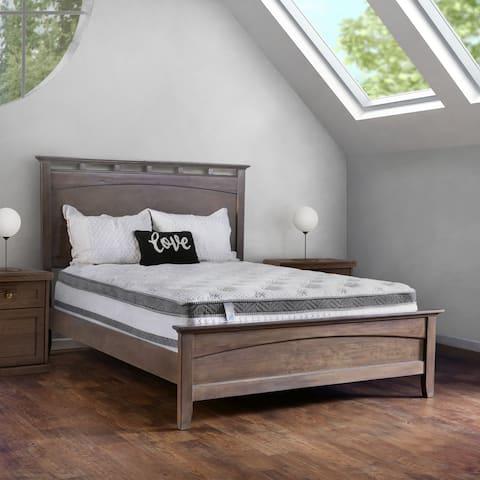 Furniture of America Mosh Euro Pillow Top White Cal King Mattress