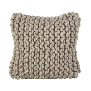 Chunky Cable Knit Design Accent Cushion Wool Throw Pillow