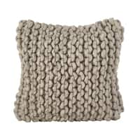 Chunky Cable Knit Design Accent Cushion Wool Down Filled Throw Pillow