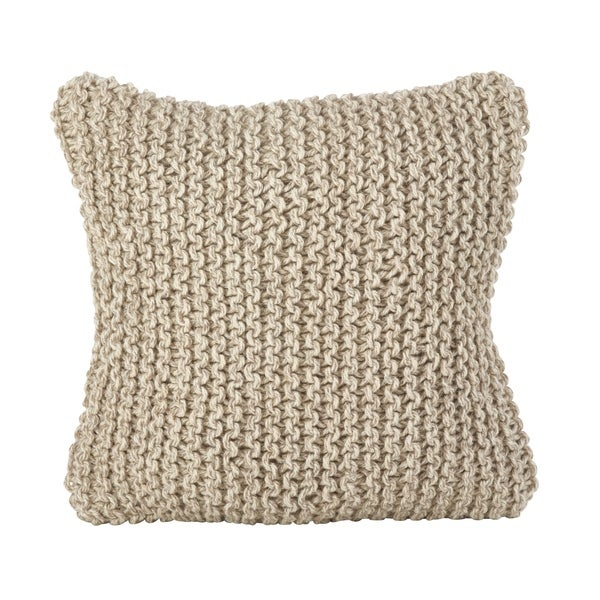 Shop Chunky Hand Knit Design Accent Cushion Wool Down Filled Throw