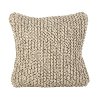 Chunky Hand Knit Design Accent Cushion Wool Down Filled Throw Pillow