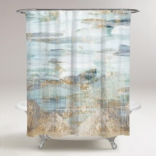OliverGal 'Love in Teal' Shower Curtain