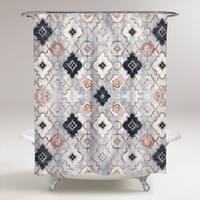 OliverGal 'Rose Quartz Moroccan'Shower Curtain