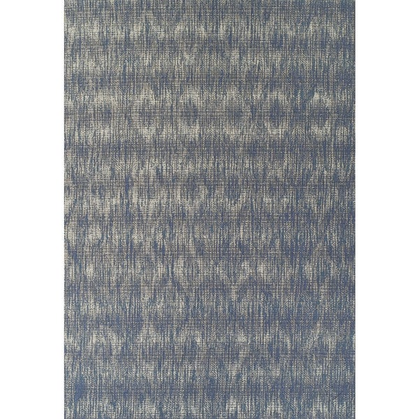 ADDISON Freeport Abstract Diamond Blue/Gray Indoor-Outdoor Area Rug (2'X3')