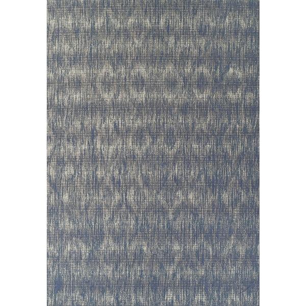 Addison Freeport Abstract Diamond Blue/Grey Indoor/Outdoor Area Rug (5'1 x 7')
