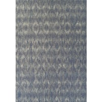 Addison Freeport Abstract Diamond Blue/Grey Indoor/Outdoor Area Rug (5'1 x 7')