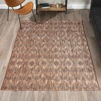 Addison Freeport Abstract Diamond Brown/Ivory Indoor/Outdoor Area Rug (8'2 x 10')