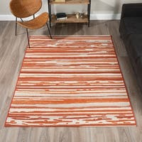 Addison Freeport Rust Striped Area Rug