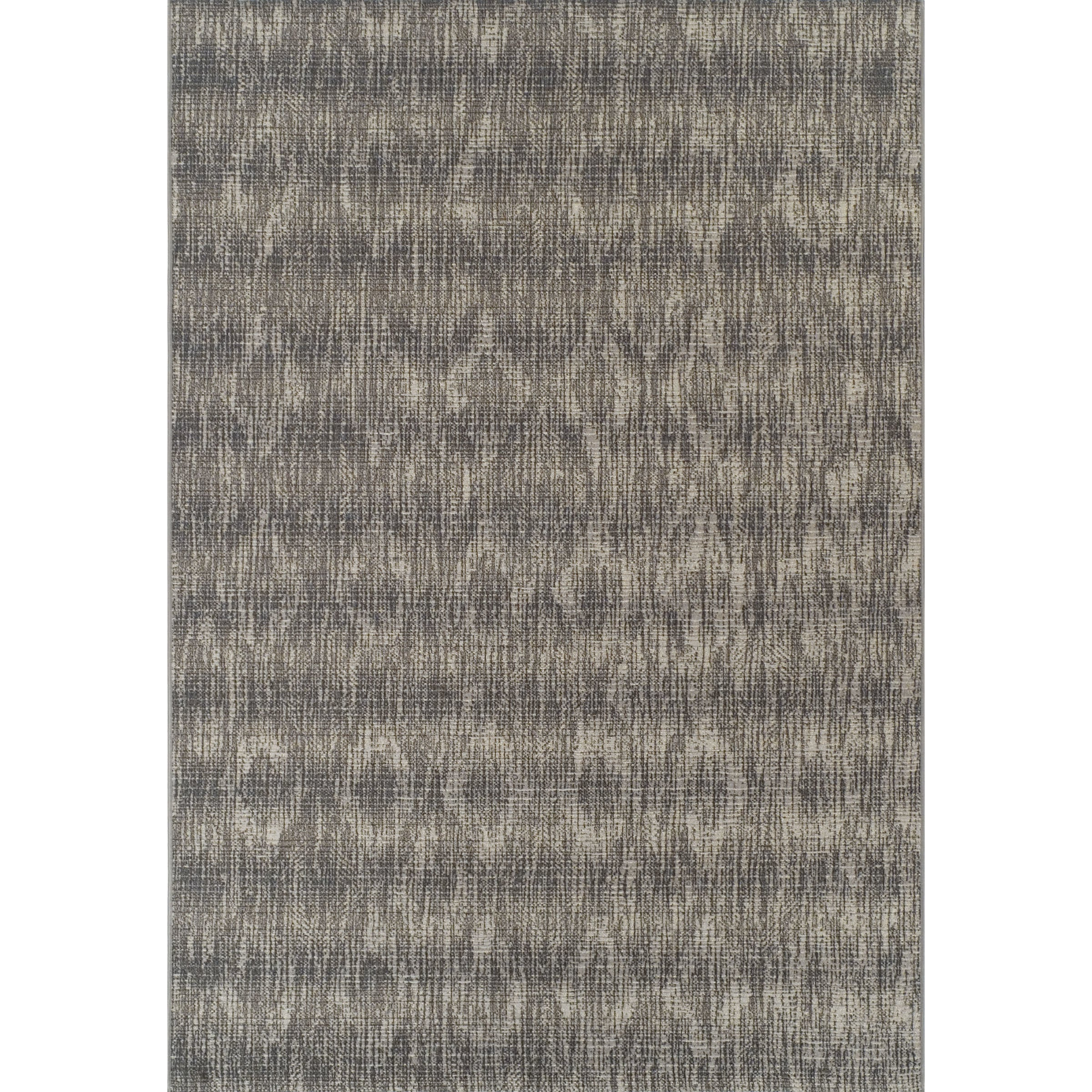 ADDISON Freeport Abstract Diamond Gray/Ivory Indoor-Outdoor Area Rug (33X51) - 33X51 (33X51 - grey)