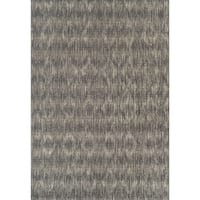 Addison Freeport Abstract Diamond Grey/Ivory Indoor/Outdoor Area Rug - 5'1 x 7'