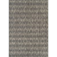 Addison Freeport Abstract Diamond Gray/Ivory Indoor/Outdoor Area Rug (8'2 x 10'0)
