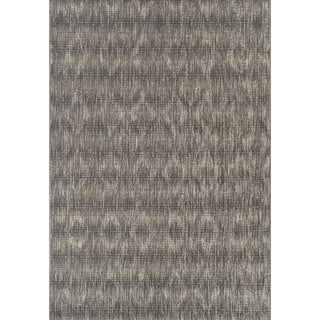 Addison Freeport Abstract Diamond Gray/Ivory Indoor/Outdoor Area Rug - 8'2 x 10'0