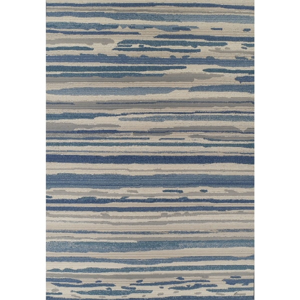 Shop Addison Freeport Abstract Stripe Blue Gray Indoor