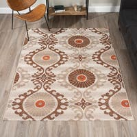 "ADDISON Freeport Bohemian Brown/Spice Indoor-Outdoor Area Rug (5'1""X7')"