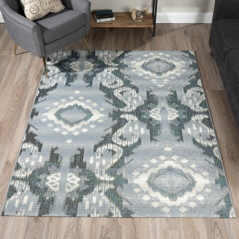 Addison Freeport Medallion Grey/Ivory Indoor/Outdoor Area Rug