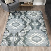 Addison Freeport Medallion Grey/Ivory Indoor/Outdoor Area Rug (8'2 x 10')