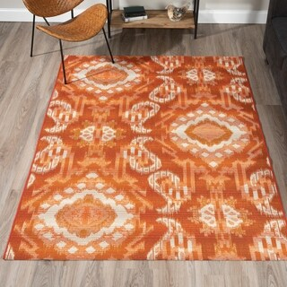 "ADDISON Freeport Medallion Spice/Ivory Indoor-Outdoor Area Rug (3'3""X5'1"")"