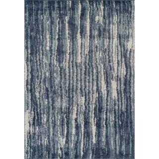 Addison Rugs Reston Casual Stripe Blue/Silver Area Rug