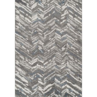 Addison Reston Modern Chevron Grey/Multi Area Rug (9'6 x 13'2)
