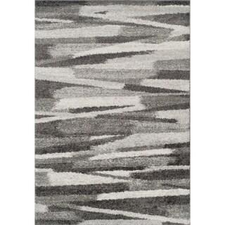 Addison Rugs Reston Neutral/Grey Shag Area Rug (8' x 10')