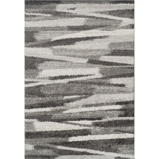 Addison Reston Grey/Ivory/Silver Modern Stack Area Rug (9'6 x 13'2)