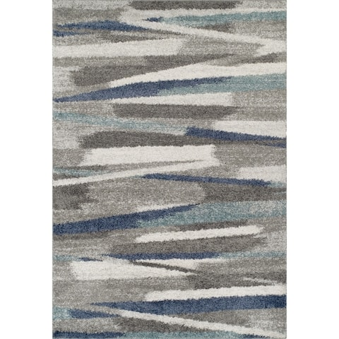Addison Rugs Reston Taupe Abstract Area Rug (8' x 10') - 8'X10'