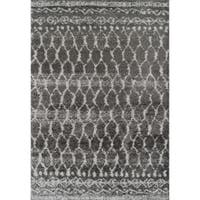Addison Rugs Reston Gray/Ivory Trellis Area Rug - 9'6 x 13'2